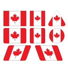 buttons with flag of Canada vector image