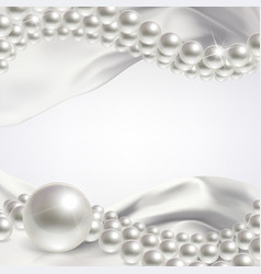 Wedding background with pearls vector