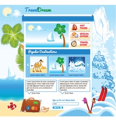 Tourism template for web site vector