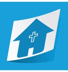 Christian house sticker vector