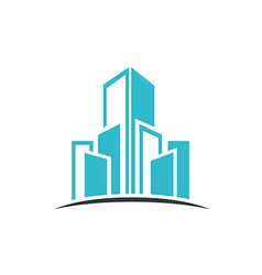 Modern building cityscape abstract logo vector