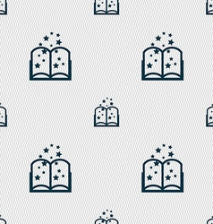 Magic book sign icon open book symbol seamless vector