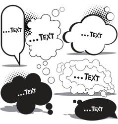 cloud bubble for speech vector image