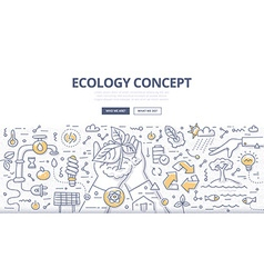 Ecology doodle concept vector