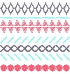 Aztec ethnic tribal seamless pattern vector image vector image