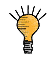 Bulb light electricity sketch vector
