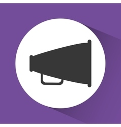 bullhorn announce graphic vector image vector image