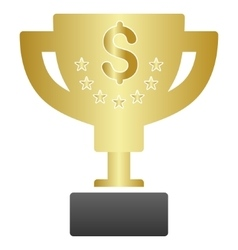 Business award cup gradient icon vector
