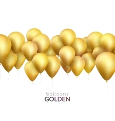 Celebration background with golden balloons vector image vector image