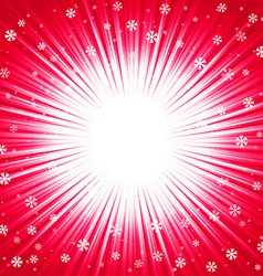 Christmas texture with shining snowflakes and rays vector image