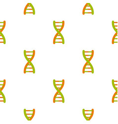 dna helix pattern seamless vector image