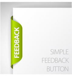 feedback sticker vector image vector image