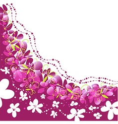Floral background pattern with flowers vector