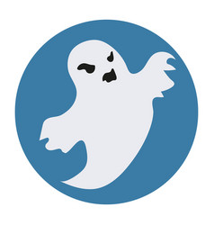 ghost icon flat style isolated on white vector image vector image