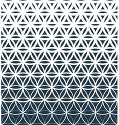 Gradient geometric seamless pattern vector image