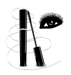 Ink for eyelashes and eye vector image vector image