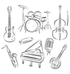 Jazz band set vector image vector image