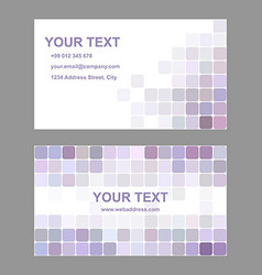 Light purple business card template design vector