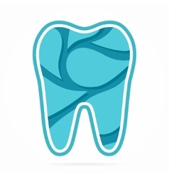 Logo combination of water drop and tooth vector image