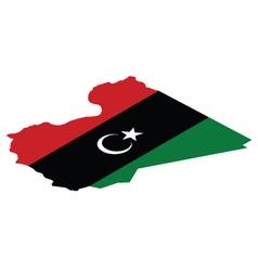 Map of libya vector