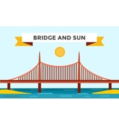 Modern bridge vector image