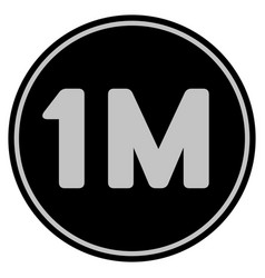 One million black coin vector