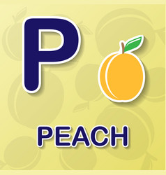 peach alphabet background vector image vector image