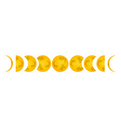 phase of the moon icon label for web on white vector image