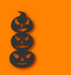 Pumpkins with an evil expression on faces vector image