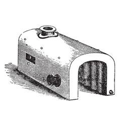 Saddle boiler vintage vector