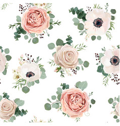Seamless pattern floral watercolor style design vector