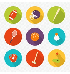 Sports colored Icons set vector image