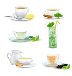 Tea icon set vector