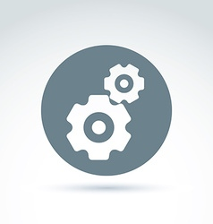 Gears and cogs system theme icon conceptual vector image