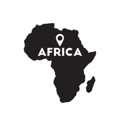 Flat icon in black and white africa vector
