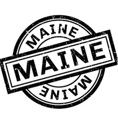 Maine rubber stamp vector