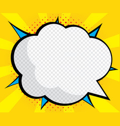 abstract blank speech bubble pop art comic book vector image