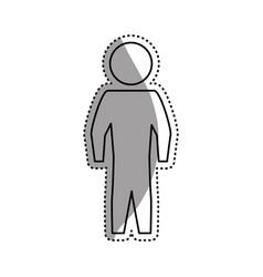 Man silhouette standing still vector