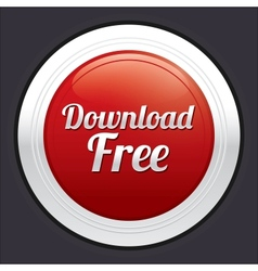 Download free button red round sticker vector image