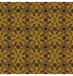 Floral spring pattern in sepia colors vector