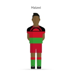 Malawi football player soccer uniform vector
