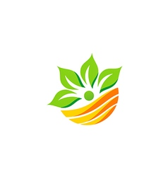 Nutrition leaf eco botany green logo vector