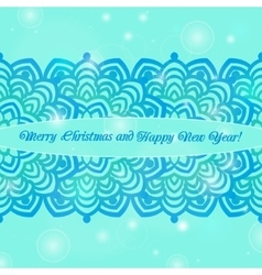 Christmas and new year ornate cards on winter vector