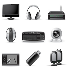 Computer device icons vector