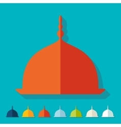 Flat design mosque vector