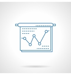 Project presentation blue flat line icon vector