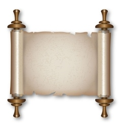 Ancient scroll with handles vector