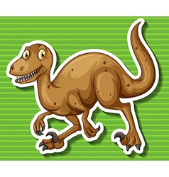 Brown dinosaur with sharp claws vector
