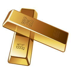 Two gold bars vector