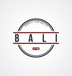 Bali badge indonesia label theme vector